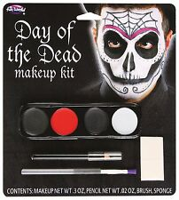 DAY OF THE DEAD MAKE UP KIT MALE HALLOWEEN DIA DE LOS MUERTOS SKELETON