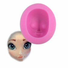 3D Girl Princess Face Silicone Cake Mould Fondant Sugarpaste DIY Doll Head Mold