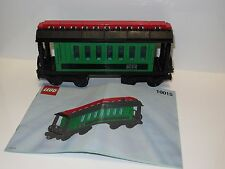 LEGO Trains 9 V Green Passenger Wagon 10015 USED !!! RARE !!!
