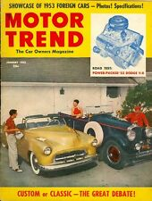 1953 Motor Trend Magazine: Custom or Classic/Foreign Cars/Dodge V-8