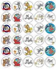 Tom And Jerry Cupcake Topper Edible Wafer Paper BUY 2 GET 3RD FREE!