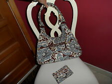 Vera Bradley hobo bag and matching wallet in State Blooms
