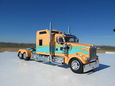 DCP 1/64 SCALE W-900 KENWORTH STUDIO SLEEPER PEACH W TURQUISE SEMINOLE STRIPE