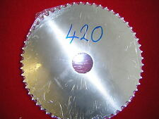 "Blank 45T 420 (1/2"" x 1/4"")chain pitch Rear Sprocket Alloy. New"