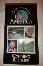 VHS) Marty Stouffer's WILD AMERICA - WATCHING WILDLIFE (animals & nature), 1995