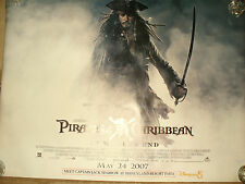 PIRATES OF THE CARIBBEAN WORLD'S END quad poster new