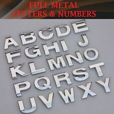 1pc Metallic Alphabet Sticker Car Emblem Silver Vehicle (A-Z) Letter Badge Decor
