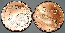 2002 Greece 5 Cents Coin Unc from Roll BU Nice KM#183