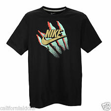 NIKE Retro Animal T-Shirt sz L Large Black Green Glow Gold Red Premium Max SB