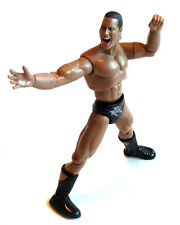 "WWF WWE Wrestling Classic DWAYNE JOHNSON THE ROCK  6"" figure, very poseable"