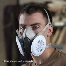 3M Dust Paint Mask Half Face Respirator Filter Spray Protect Smoke Gas Small New