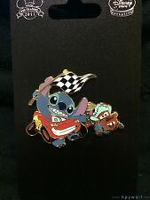 Japan Disney STITCH & SCRUMP IN A CARS OUTFIT Lightning Mcqueen Cars Tokyo Pin