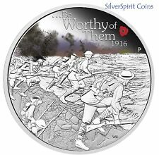 2016 ANZAC SPIRIT 100th ANNIVERSARY BE WORTHY OF THEM 1oz Silver Proof Coin