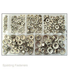 Assorted A2 Stainless Steel M3 M4 M5 M6 M8 M10 Hexagon Serrated Flange Nuts