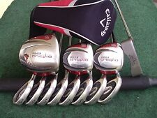 Callaway Cleveland Irons Driver Woods Putter Mens Complete Golf Club Set L.H.***