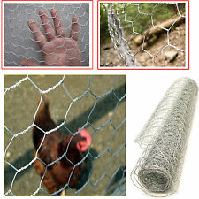 GALVANISED CHICKEN RABBIT GARDEN FENCE MESH NET WIRE NETTING 13MM X 0.9M X 10M