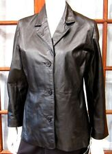 NWT AUTHENTIC SHAVER LAKE LEATHER JACKET OUTWEAR SIZE SP, BLACK