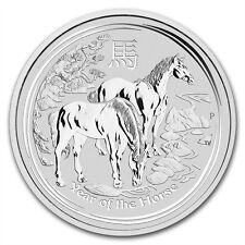 5 oz 999 Silbermünze Silber Lunar II Jahr des Pferd Year of the Horse 2014 NEU
