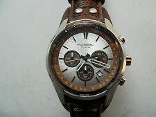 FOSSIL CHRONOGRAPH LEATHER MEN'S ANALOG DRESS WATCH.MODEL NUMBER IS CH:2565