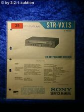 Sony Service Manual STR VX1S Receiver (#0029)