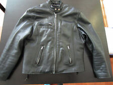 Men's Wilsons Open Road Cafe Racer Leather Jacket Size Large M  Zip Out Liner