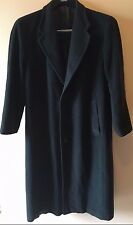 Giorgio Armani Le Collezioni Black Wool Long Overcoat Coat Italy XL Short? CR