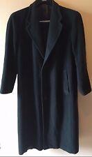 Giorgio Armani Le Collezioni Black Wool Long Overcoat Coat Italy XL Short? CR