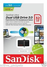Brand New SanDisk Ultra 32 GB OTG Dual USB 3 32GB OTG PENDRIVE Sandisk 32 gb