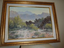 Original Signed Bill Freeman Oil Painting 12x16 Desert Scape
