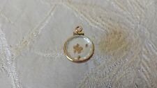 24K Pure Gold Nuggets Encased 14K Yellow Gold Frame Charm Pendant 1.0 grams