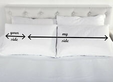 My Side Your Side Couples Pillowcases Anniversary Present Pillow Case Present