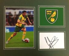 A 12 x 10 inch mounted display personally signed by Graham Dorrans Norwich City