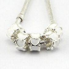 5pcs Tibetan silver Czech big hole spacer beads fit Charm European Bracelet