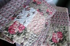SHABBY CHIC COTTAGE VINTAGE CLASSIC QUILT 3 PC SET FULL/QUEEN