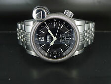 42mm JUMBO SWISS Oris Flight Timer auto date day GMT SS bracelet dressing watch