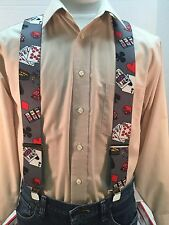 "New, Men's, Casino, XL, 2"", Adj. Suspenders, Made in the USA"