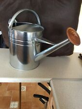 Metal Galvanised Garden Home Plant WATERING CAN + Rose 9 Litre 2 Gallon