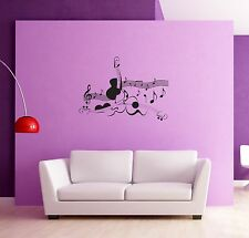 Wall Sticker Music Violin Notes Modern Abstract Decor for Living Room  z1268