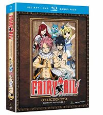 Fairy Tail . Collection 2 . Season 1 Episode 25 - 48 . Anime . 4 Blu-ray + 4 DVD