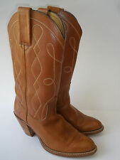 FRYE COWGIRL LEATHER BOOTS WOMEN'S SIZE US 7.5 HOT VINTAGE  MADE IN USA