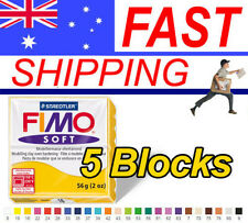 FIMO Soft Polymer Clay 56g Block - 5 Blocks - Choice of 24 colours