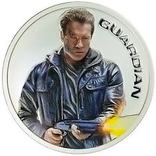 1oz Terminator Genisys Guardian.999 Silver Proof Round With Box & COA.