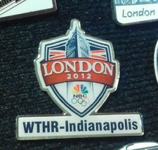 2012 LONDON OLYMPIC MEDIA NBC WTHR-INDIANAPOLIS PIN
