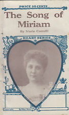 The Song of Miriam. by Marie Correlli. Chic. N.D. Circ. 1890's. Rare Vintage.