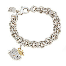 Kimora Lee Simmons Hello Kitty Diamond Bracelet with Yellow Sapphires