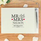 PERSONALISED MR AND MRS MESSAGE GUEST BOOK & PEN SET - Wedding Gift