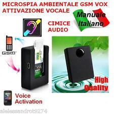 Microspia Cimice Ambientale GSM N9 Voice Detection Attivazione Vocale Spy Spia