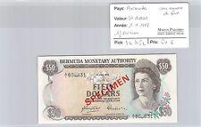 BILLET BERMUDES - 50 DOLLARS - 1.4.1978 - AVEC NUMÉROS DE SÉRIE