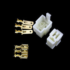 6.3mm Terminal Male Female 3 Way Connectors Set Motorcycle Car ATV Scooter Moped