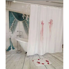 Funny Horror Creepy Bloody Hands Shower Curtain Bath Halloween Decoration Gift